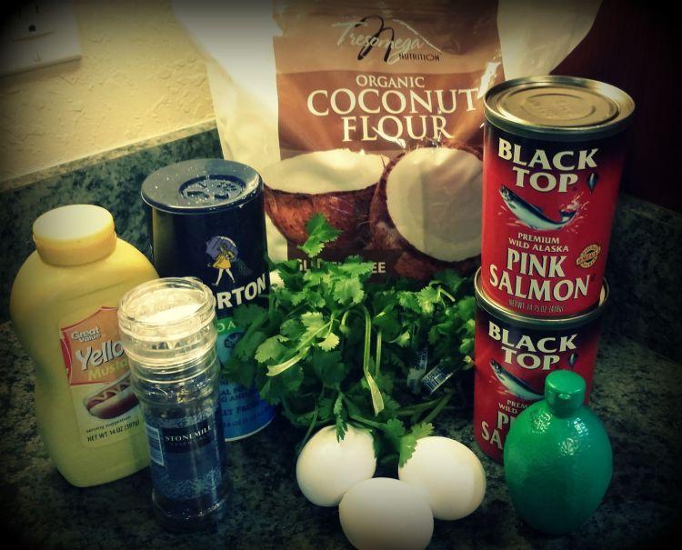 Ingredients for Salmon Burger