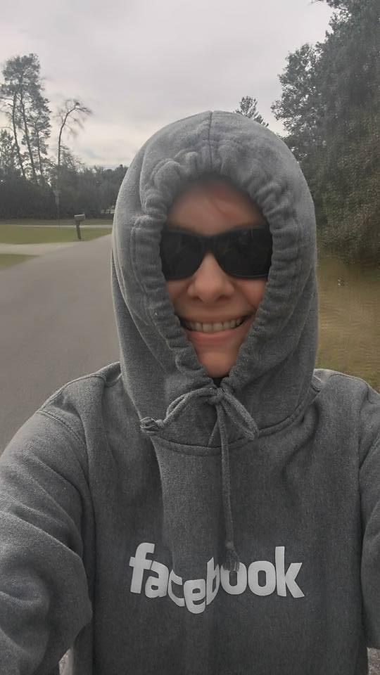 Me in Facebook hoody