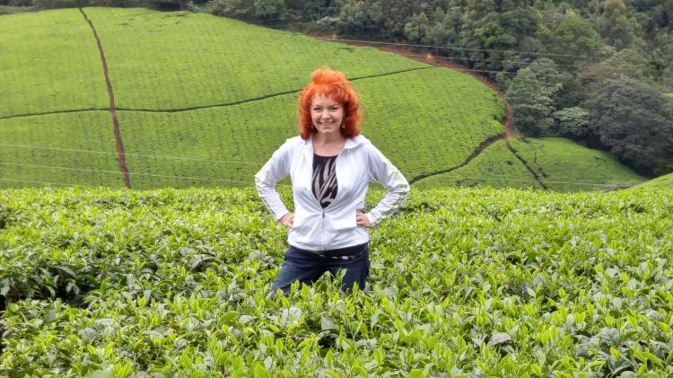 jan at tea farm